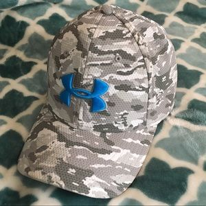 Grey Camo Under Armour Fitted Hat